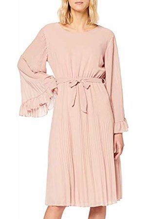 Mela Women's Fluted Sleeve Pleated Midi Dress Casual