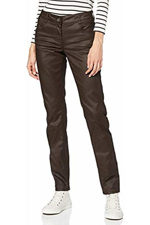 Cecil Women's 372782 Vicky Slim Fit Trouser, (Braun)