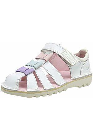 Kickers Girls' Kick Tri Bow Sandal Open Toe, ( Wht)
