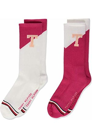 Tommy Hilfiger Girl's Kids Sock 2p Th Patch Calf ( Lady 026)