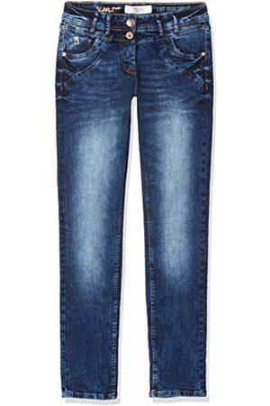 Cecil Women's 372783 Scarlett Loose Fit Straight Jeans, (Blau)