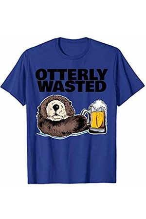 Miftees Otterly Wasted funny Otter Drinking T-Shirt