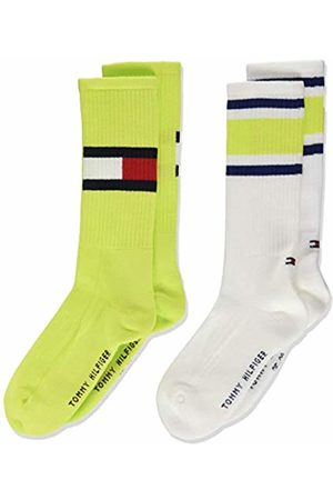 Tommy Hilfiger Girl's Th Kids Flag 2p Calf Socks, Neon 023)