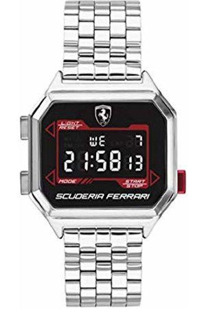 Scuderia Ferrari Men's Digital Quartz Watch with Stainless Steel Strap 0830703