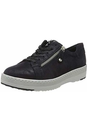 Women's Pure Relax 1 1 23711 24 Leder Trainers, (Navy Pearl 877)