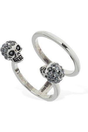 ALEXANDER MCQUEEN Women Rings - Double Skull Ring