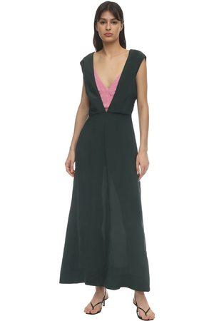 COLVILLE Bicolor Midi Dress