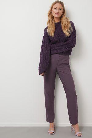 NA-KD Straight Suit Pants - Purple