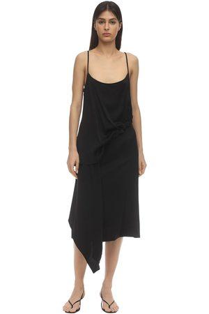 COLVILLE Viscose Dress W/drawstring Detail