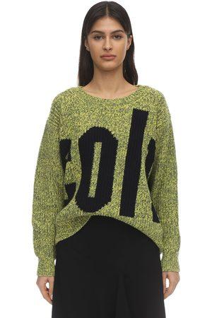 COLVILLE Women Jumpers - Wool & Cotton Intarsia Knit Sweater