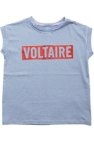 ZADIG&VOLTAIRE Logo Striped Cotton Jersey T-shirt