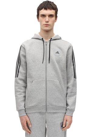 ADIDAS PERFORMANCE Zip-up Cotton Blend Sweatshirt Hoodie