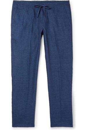 Loro Piana Slim-fit Linen Drawstring Trousers