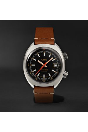Oris Movember Edition 2019 Chron Automatic 39mm Stainless Steel And Leather Watch, Ref. No. 733 7737 4034