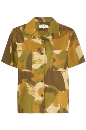 YMC Brush stroke print shirt - Neutrals
