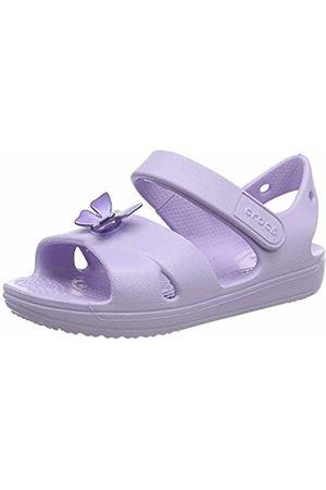 Crocs Unisex Kid's Classic Cross Strap Sandal Ankle, (Lavender 530)