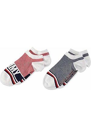 Tommy Hilfiger Girl's Th Kids Sneaker 2p Fine Stripe Ankle Socks