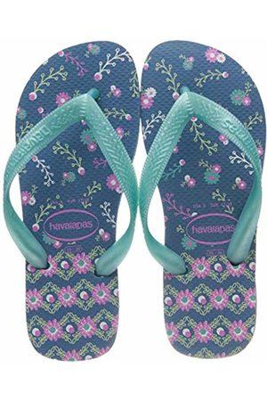 Havaianas Girls Flip Flops - Girls' Flores Flip Flops, ( 0057)