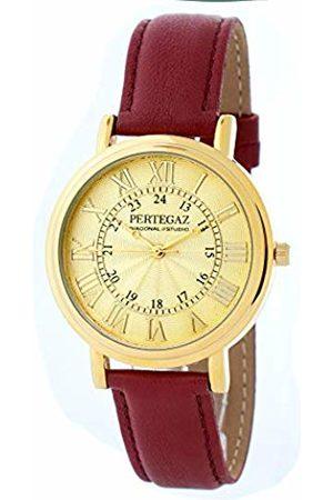 Pertegaz Quartz Watch with Leather Strap PDS-039-B
