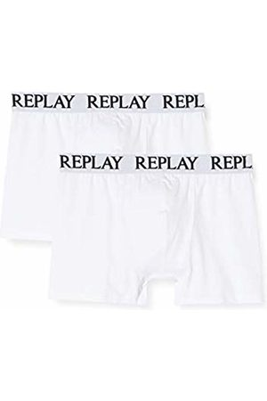 Replay Men's Basic Cuff Logo 2pz Boxer Shorts