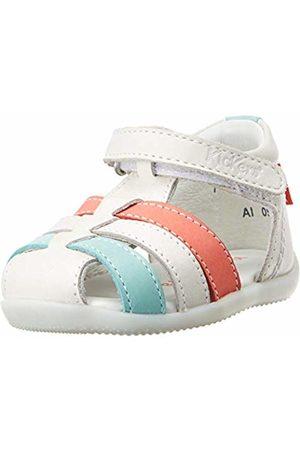 Kickers Baby Girls' Bigflo-2 Sandals, (Blanc Rose Bleu 31)