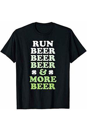 St Pattys Running St Patricks Day Running Funny Shamrock Run Beer T-Shirt