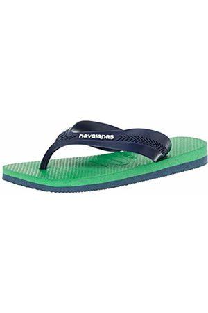 Havaianas Unisex Kid's Max Flip Flops, ( Denim/Leaf 7669)