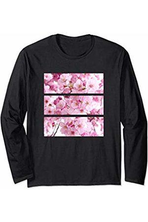 Aesthetic Fashion Style Clothing Cherry Blossom Flowers Aesthetic Pink Art Fashion Style Girl Long Sleeve T-Shirt