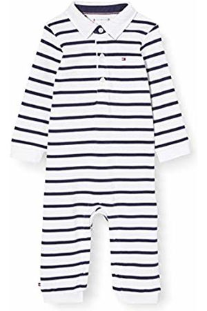 Tommy Hilfiger Baby Rugby Stripe Coverall L/S Bodysuit