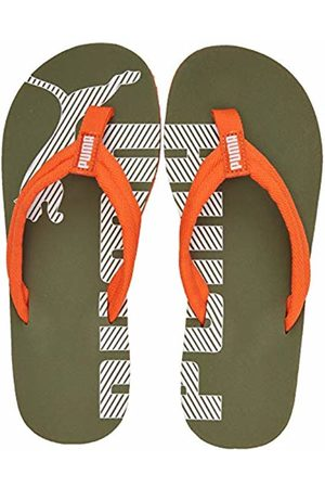 Puma Unisex Kid's Epic FLIP V2 JR Beach & Pool Shoes, (Deep Lichen -Firecracker 23)