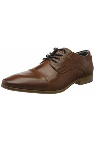 TOM TAILOR Men's 8081701 Oxfords, (Cognac 00205)