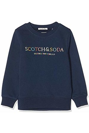 Scotch&Soda Boy's Crewneck Sweat with Artworks Sweatshirt