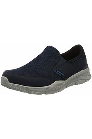Skechers Men's Equalizer 4.0 Trainers, (Navy Mesh/Pu/Trim NVY)