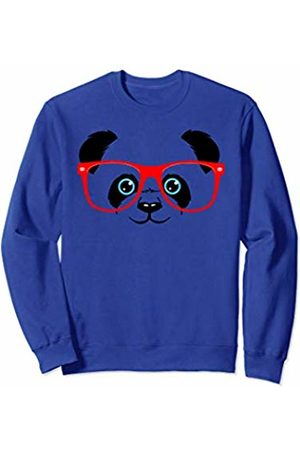 Baby Panda Bear Happy Panda Bear Baby Cute Panda Giant Animal Red Glasses Sweatshirt