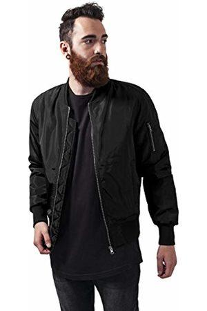 Urban classics Men's 2-Tone Bomber Jacket, Blk 00017