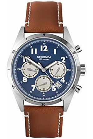 Sekonda Mens Analogue Classic Quartz Watch with Leather Strap 1741
