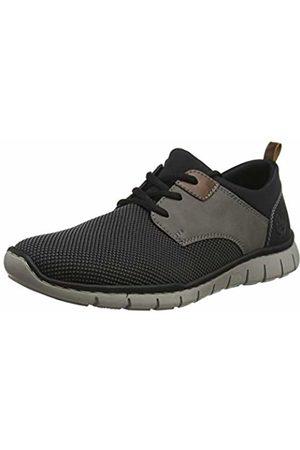 Rieker Men's B8764-43 Low-Top Sneakers, (Grau Polvere/Mogano Schwarz 43)