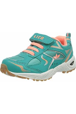 LICO Girls' Bob Vs Multisport Indoor Shoes, Turquoise (Türkis/Lachs Türkis/Lachs)
