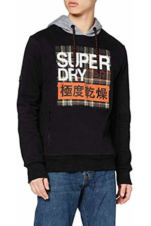 Superdry Men's Crafted Check Contrast Hood Hoodie