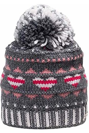 Giesswein Children's Beanie Hasenöhrl ONE - Warm Beanie with Merino Wool, Fluffy Wool Bobble, Soft Fleece Lining Inside, Winter Cap for Girls