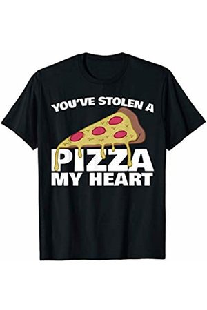 Miftees Funny Valentines You stole a pizza my heart T-Shirt