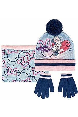 Artesanía Cerdá Girl's Conjunto 3 Piezas Minnie Scarf, Hat & Glove Set