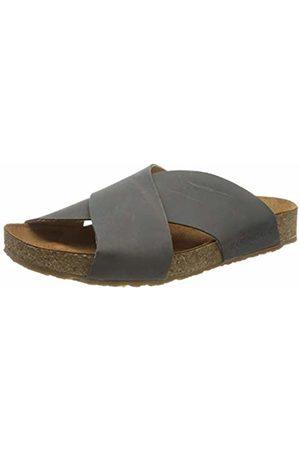 Haflinger Unisex Adults' Bio Mio T-Bar Sandals, (Anthrazit 1577)
