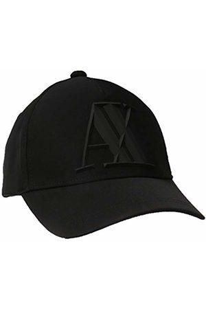 Armani Men's Rubber Logo Ax Cap Baseball, (Nero- 00020)