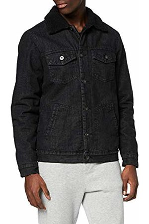 Urban classics Men's Sherpa Lined Jeans Jacket Denim