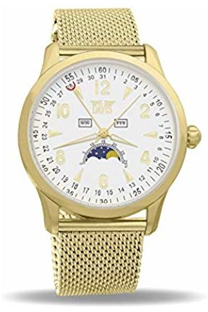 Davis Unisex Adult Moon Phase Quartz Watch with Stainless Steel Strap 1509MB