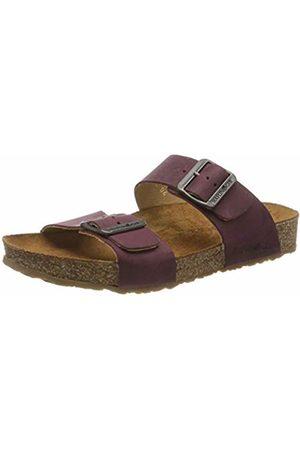 Haflinger Unisex Adults' Bio Andrea T-Bar Sandals, (Bordeaux 703)