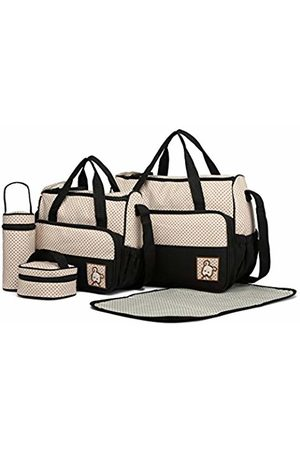 MISS LULÙ Baby Baby Changing Bags - Totes 5pcs Baby Nappy Changing Multifunction Diaper Messenger Hospital Maternity Polyester Bag ( Set)