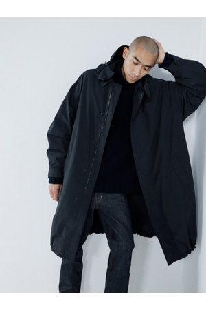 Raey Oversized Lightweight Cotton-blend Hooded Raincoat - Mens - Navy
