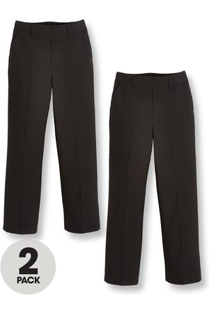 Very Boys Trousers & Shorts - Boys 2 Pack Pull On School Trousers